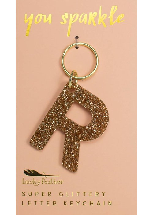 Lucky Feather Glitter Keychain R