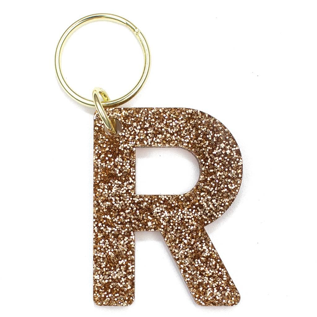 Lucky Feather Glitter Keychain R