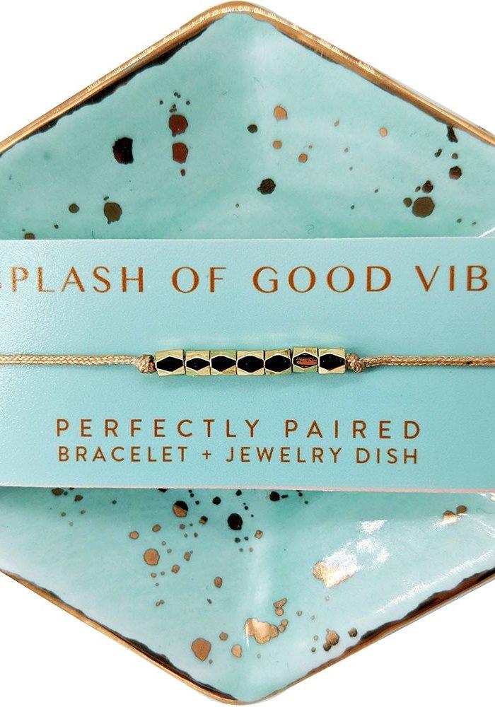 Splash of Good Vibes Bracelet & Dish Set