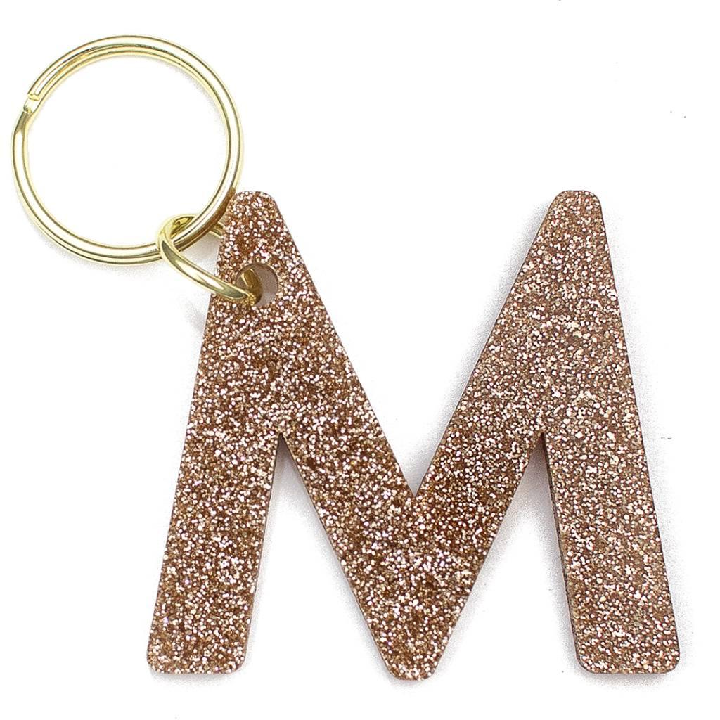 Lucky Feather Glitter Keychain M