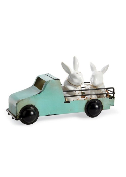 Mudpie Bunny Salt & Pepper Truck Set