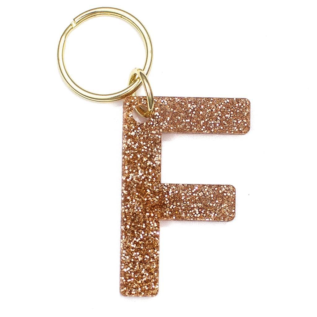 Lucky Feather Glitter Keychain F