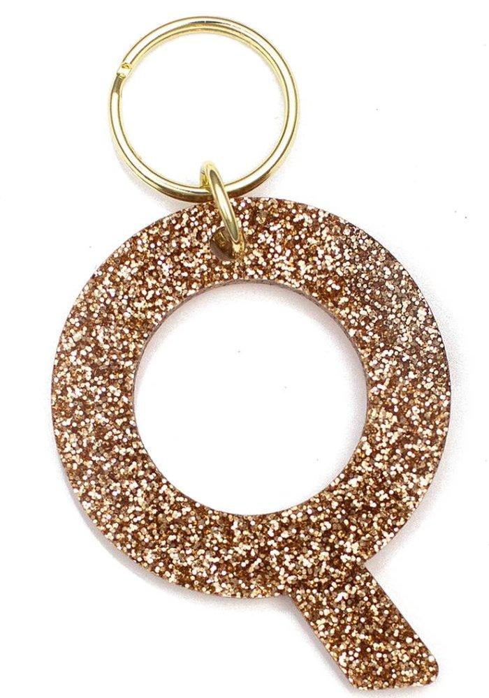 Glitter Keychain Q