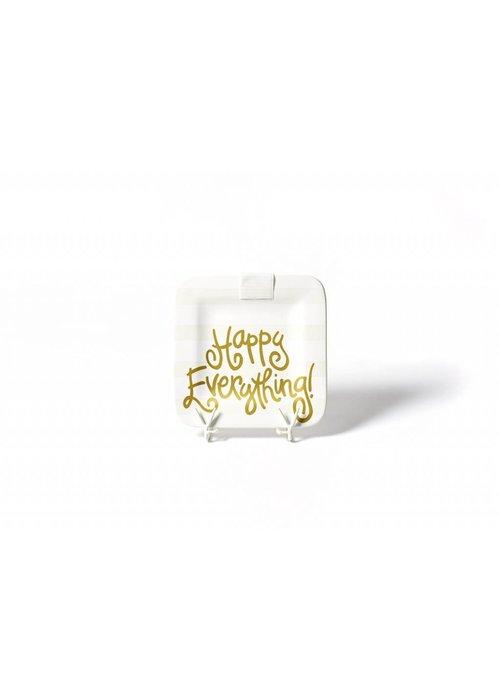 "Happy Everything White Stripe Mini Platter 9.25"""
