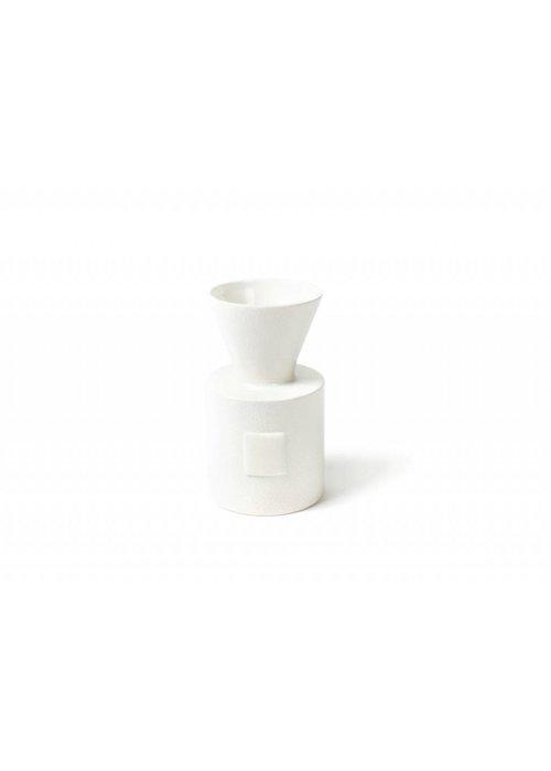 Happy Everything White Small Dot Mini Vase