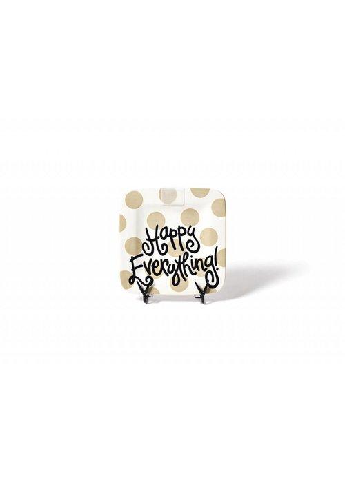 "Happy Everything Neutral Dot Happy Everything 9.25"" Mini Platter"