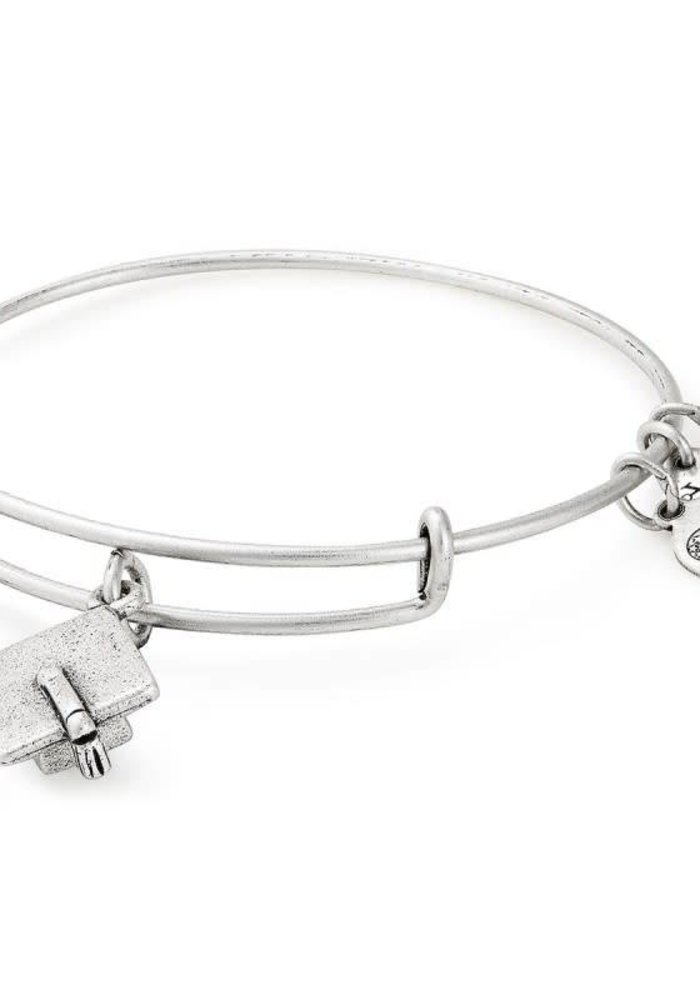 Alex & Ani Graduation Cap 2019 Charm Bangle Silver