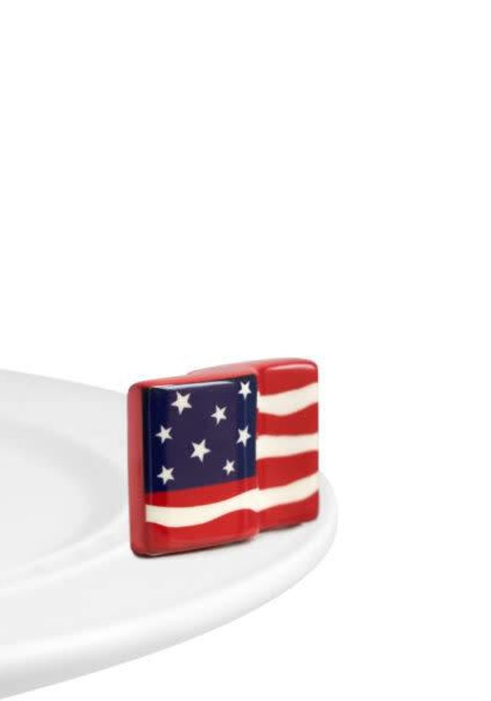 Stars & Stripes Forever American Flag Nora Fleming Mini