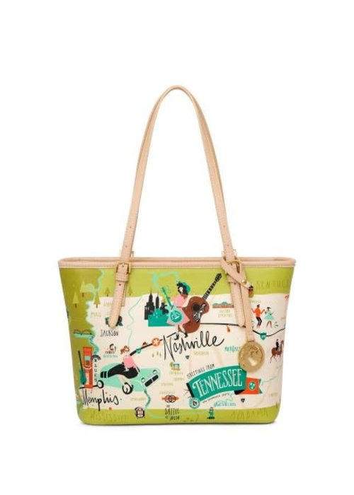 Spartina 449 Tennessee Small Tote w/ Zipper