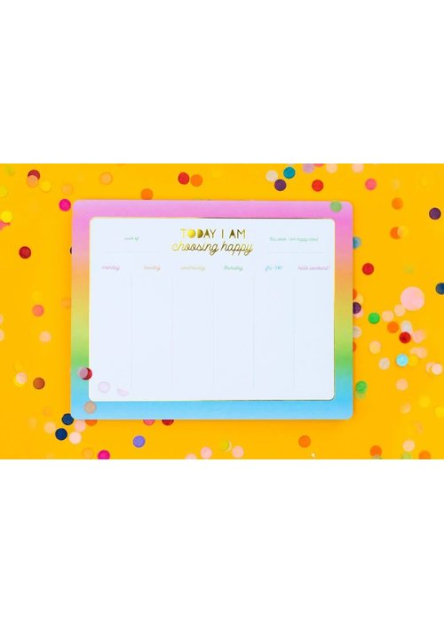 Taylor Elliot Choose Happy Weekly List Pad Planner