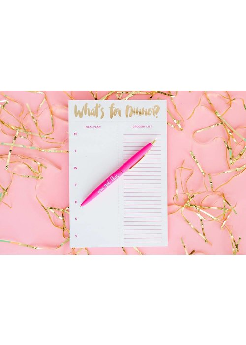 Taylor Elliot What's For Dinner Meal Planning Notepad