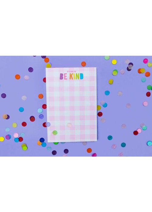 Taylor Elliot It's Cool to Be Kind Gingham Notepad