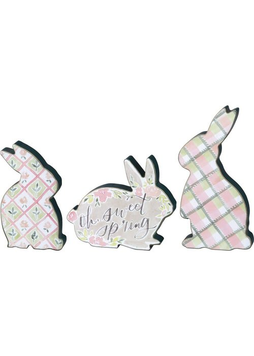 Oh Sweet Spring Set of 3 Spring Bunny Sitters