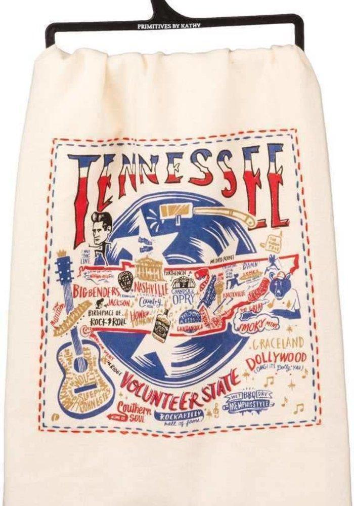 Tennessee Sentiment Art Tea Towel