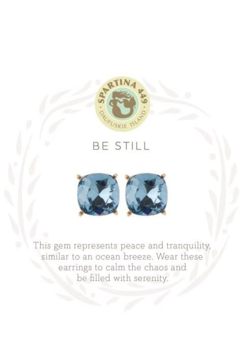 "Spartina 449 Sea La Vie ""Be Still"" Gift Message Earrings"