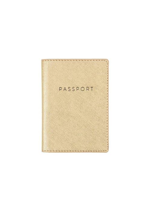 Gold Shimmer Passport Case