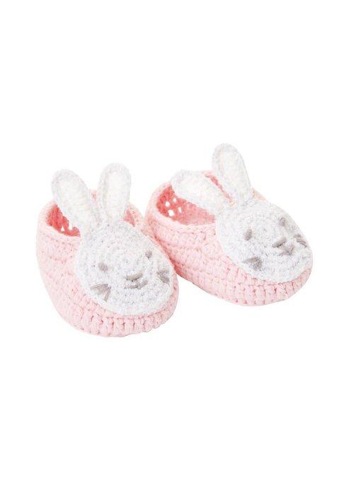 Elegant Baby Crocheted Pink Bunny Booties