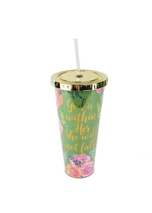 God Is Within Her Madison Straw 24oz Tumbler