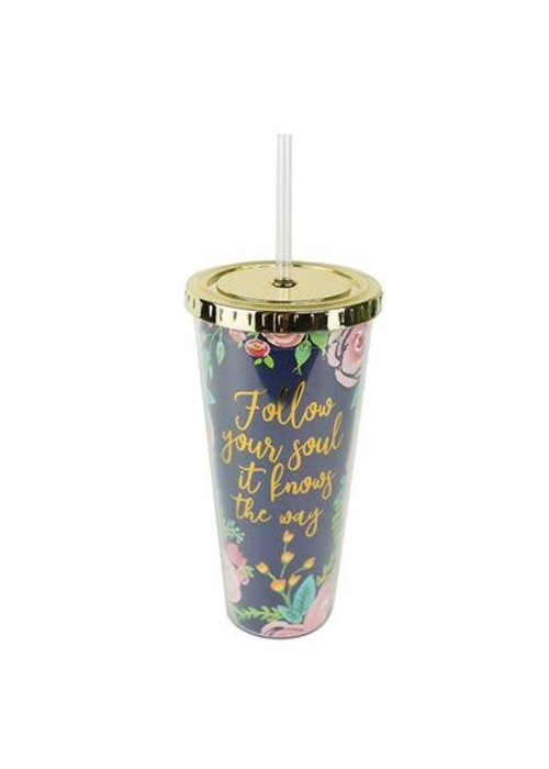 Follow Your Soul Portland 24oz Straw Tumbler