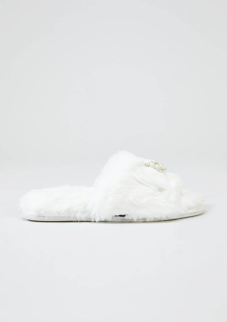 Anya Cream Slipper Sliders M