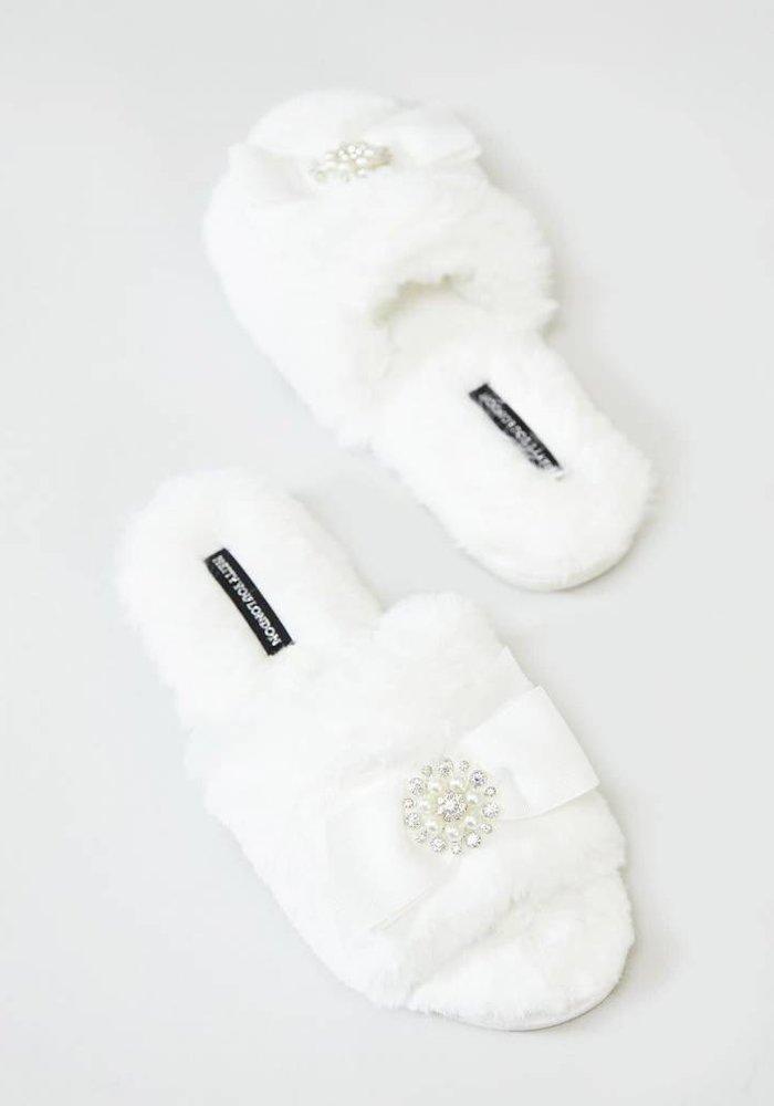 Anya Cream Slipper Sliders XL