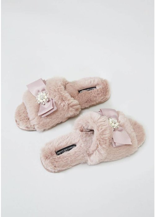 Anya Blush Slipper Sliders L