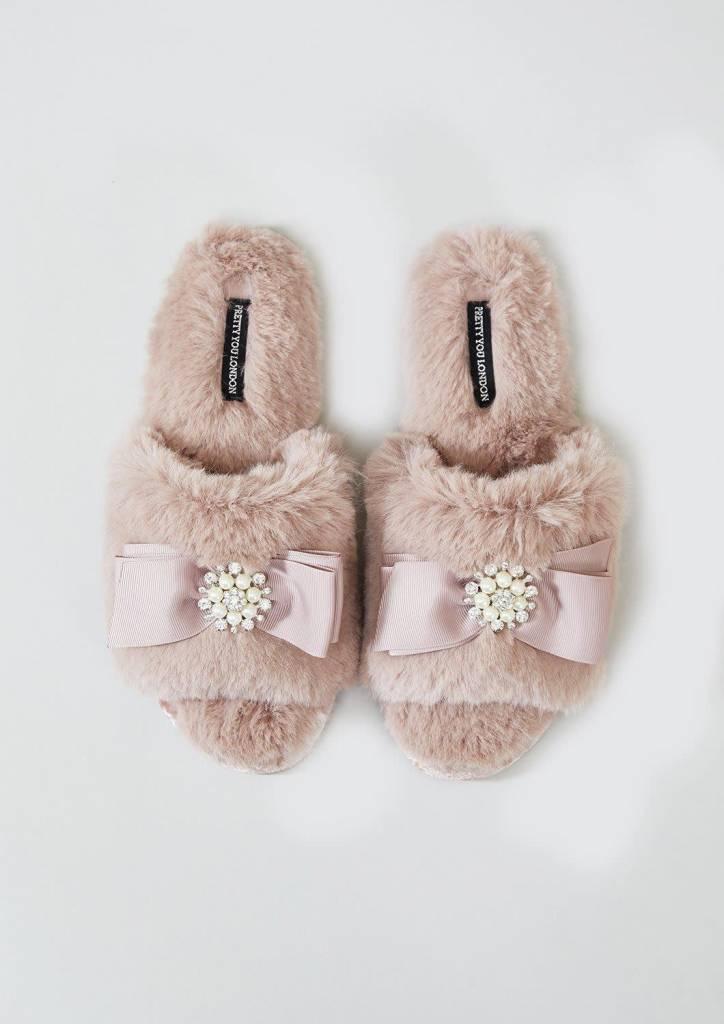 Anya Blush Slipper Sliders L