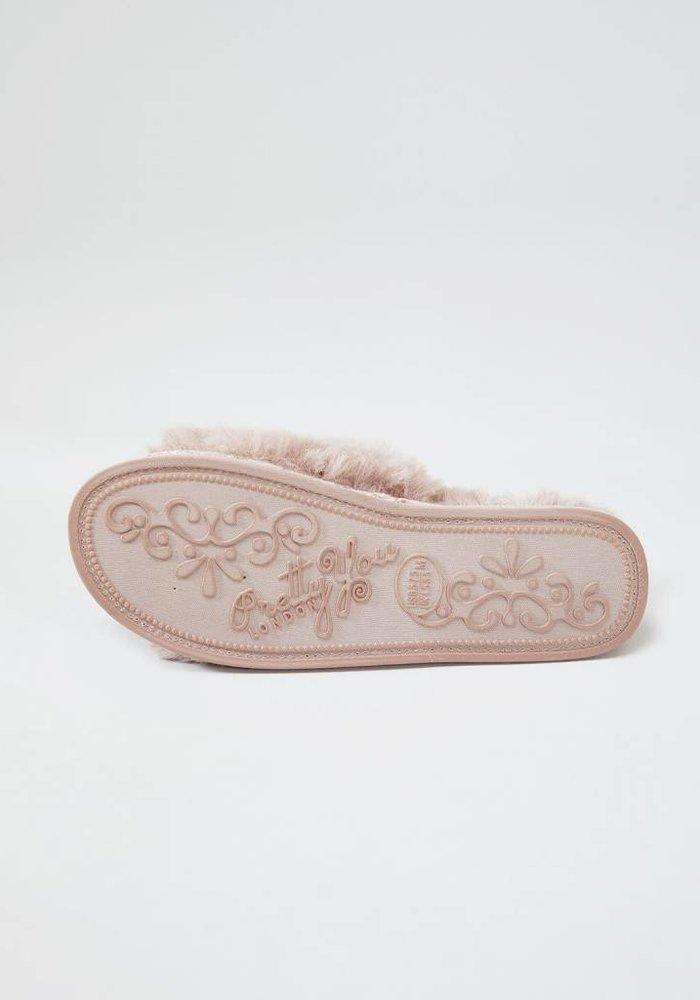 Anya Blush Slipper Sliders XL