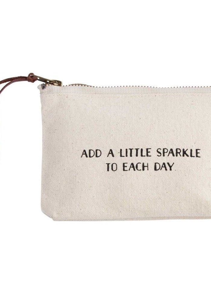 Add a Little Sparkle Canvas Cosmetic Bag