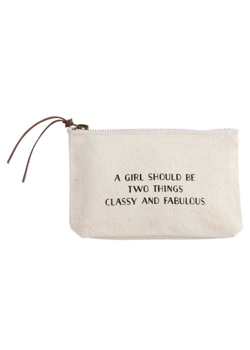 Mudpie Classy & Fabulous Canvas Cosmetic Bag