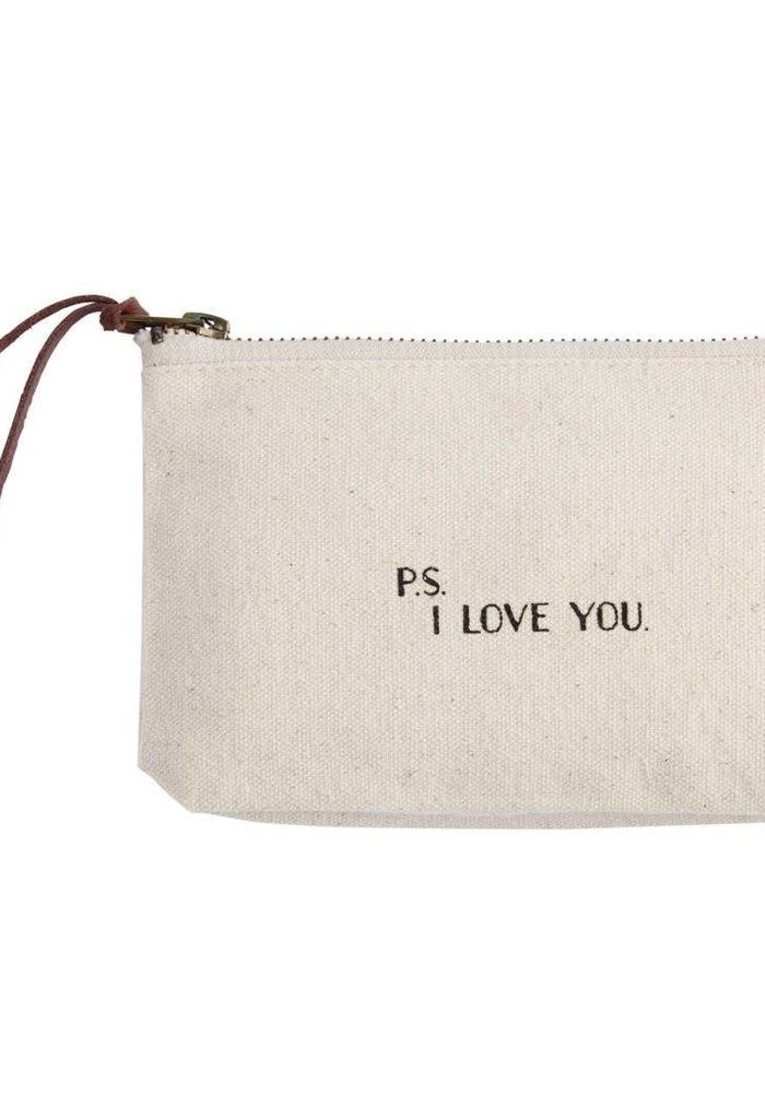 P.S. I Love You Canvas Cosmetic Bag