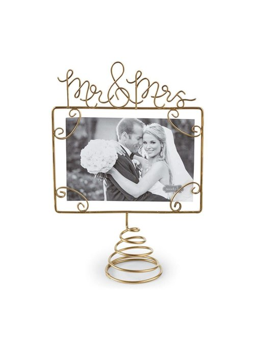 Mudpie Wire Mr & Mrs Photo Topper