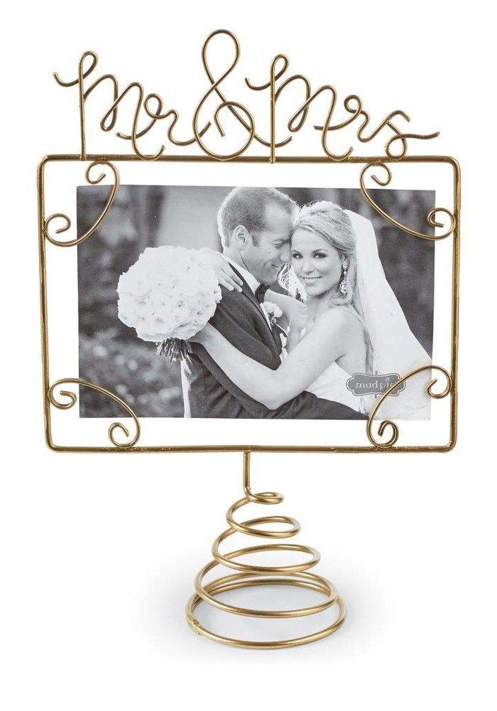 Wire Mr & Mrs Photo Topper
