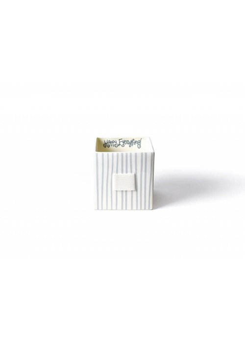 Happy Everything Stone Stripe Mini Nesting Cube Medium