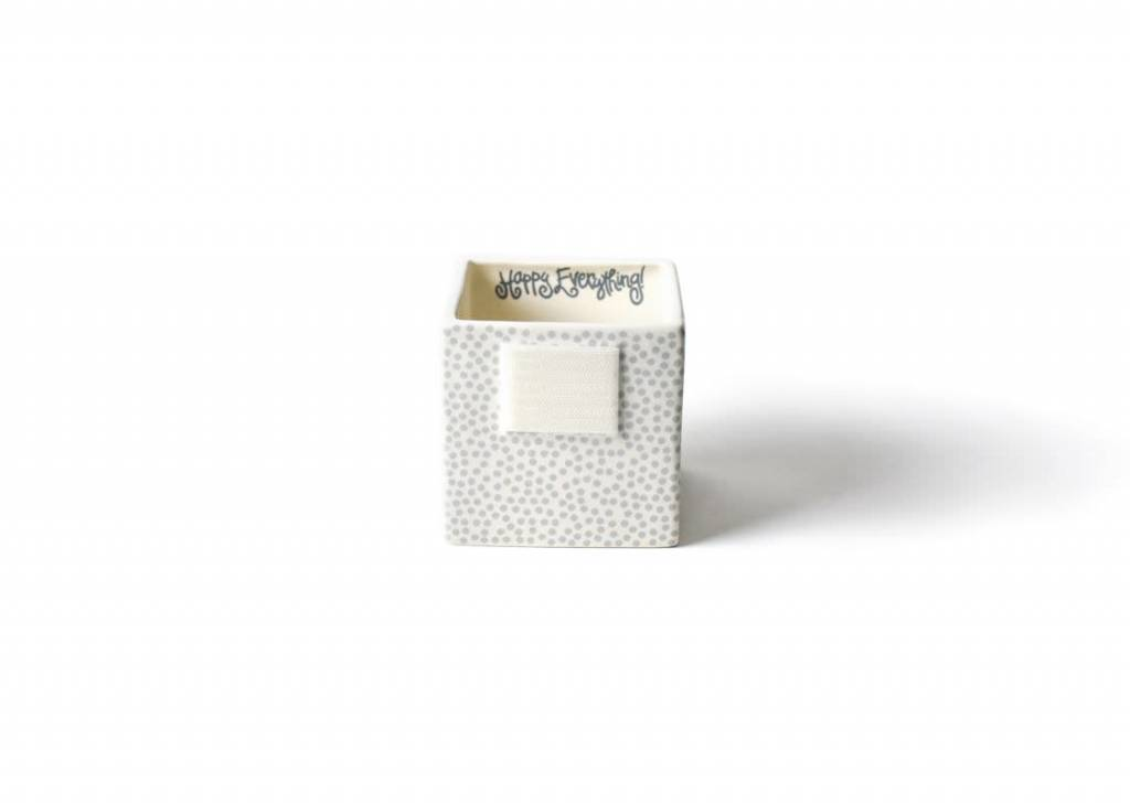Happy Everything Stone Small Dot Nesting Cube Small
