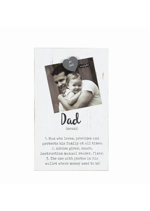 Mudpie Dad Definition Magnetic Picture Frame