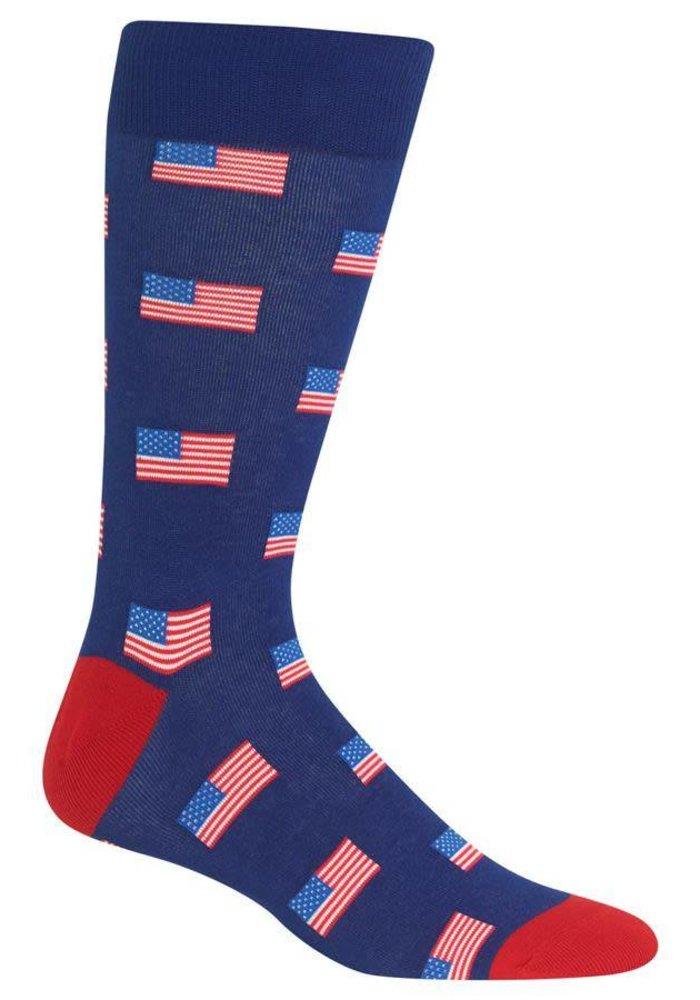 American Flags Crew Socks