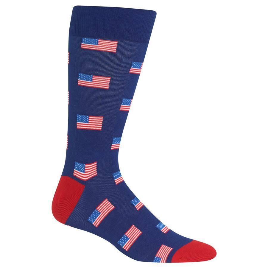 HotSox American Flags Crew Socks