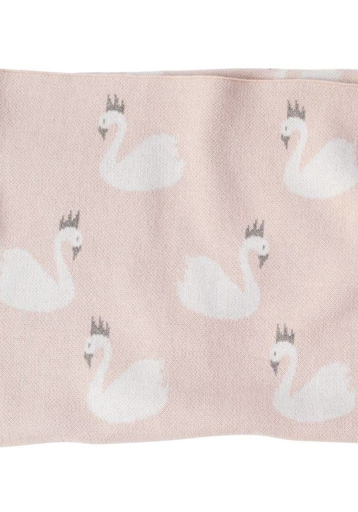Pink Cotton Swan Blanket