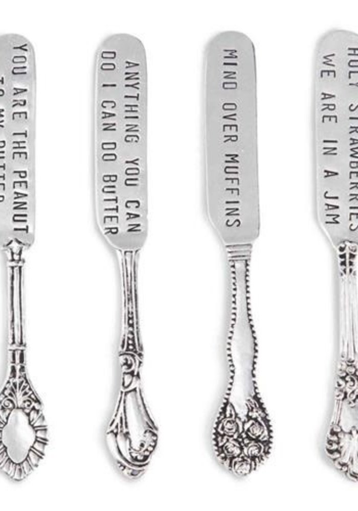 Foodie Sentiment Vintage 4-Piece Spreader Set