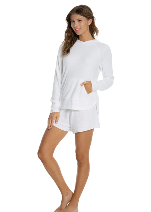 Barefoot Dreams Cozychic Ultra Lite Pullover Hoodie Sea Salt L