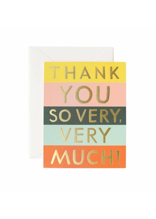 Thank You So Very, Very Much Color Block Card