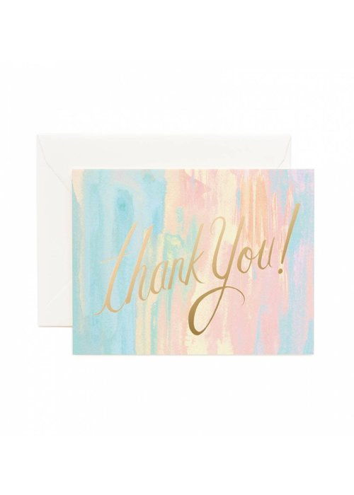 Thank You Pastel Watercolor Card
