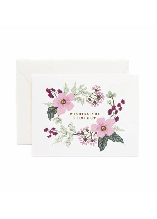Rifle Paper Wishing You Comfort Bouquet Card