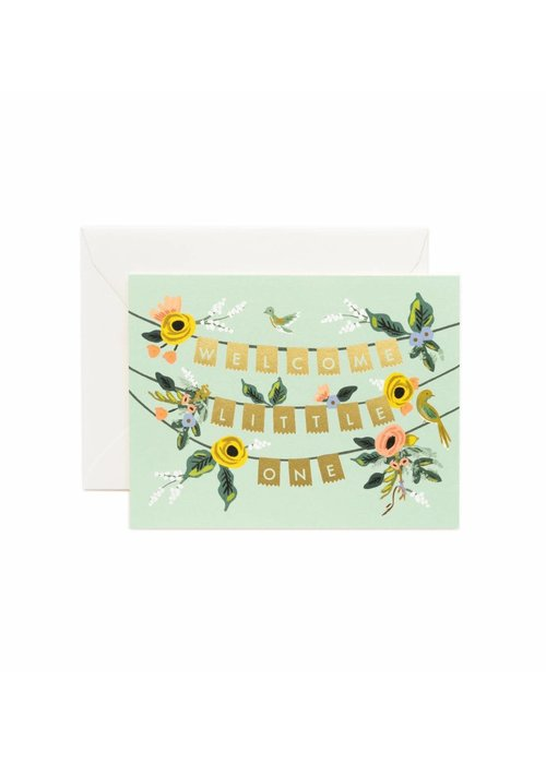 Rifle Paper Welcome Little One Garland Card