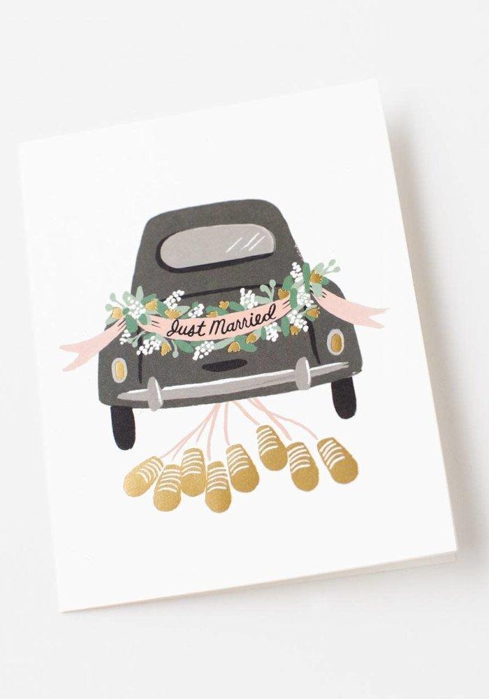 Just Married Getaway Card