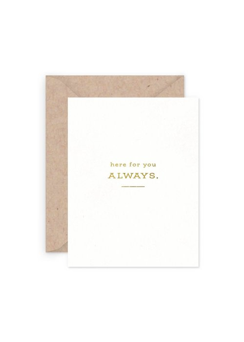 Here For You Always Card