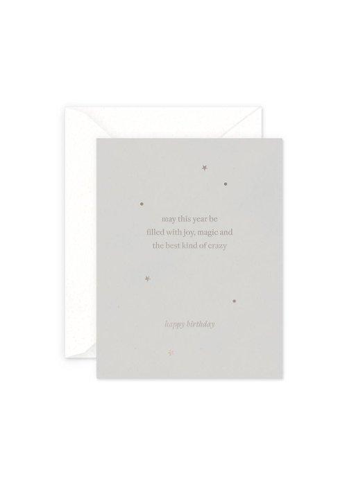 Joy, Magic, & the Best Kind of Crazy Birthday Card
