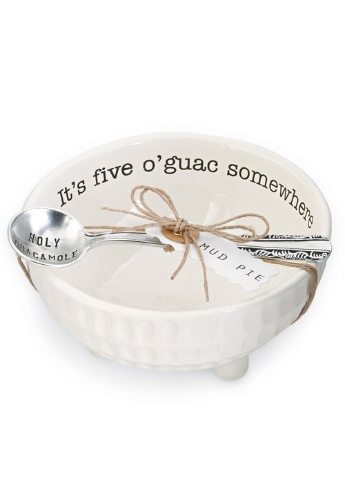 Mudpie It's Five O'Guac Somewhere Guacamole Dip Cup Set