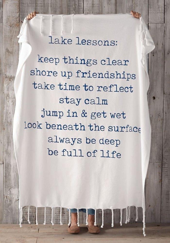 Lake Lessons Blanket